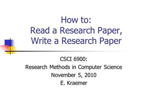 How to write a clinical study report paper